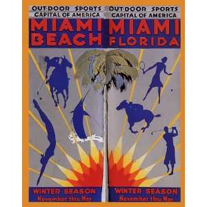 GOLF SWIM TENNIS MIAMI BEACH FLORIDA BEACH VACATION TRAVEL TOURISM