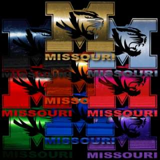 Missouri Tigers Mizzou 24 HUGE Auto Car Truck Window Sticker Decals
