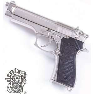 M92 Replica Automatic Pistol Replica   Nickel Everything