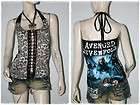 Avenged Sevenfold Metal Punk Rock DIY Brown Leopard Corset Top S/M