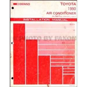 1990 Toyota 4Runner A/C Installation Manual Original Toyota Books