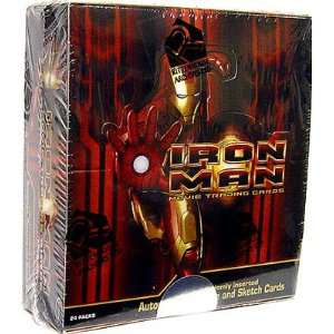 Archives Iron Man Movie Trading Cards Box [24 Packs] Toys & Games