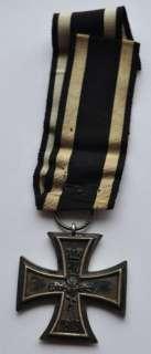 1914 Germany Original 2nd Class Iron Cross Award Original Ribbon RARER