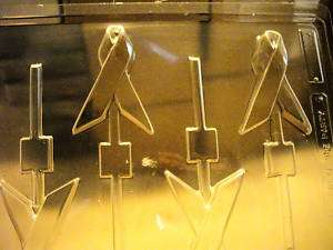 AWARENESS RIBBON LOLLY CHOCOLATE CANDY SOAP MOLD MOLDS