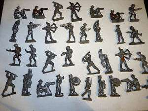 ANTIQUE MILITARY LEAD TOY SOLDIERS INDIANS HUGE LOT 33