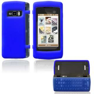 LG VX11000 EnV Touch Voyager 2 Clear Dark Blue Bumper Silicone Skin