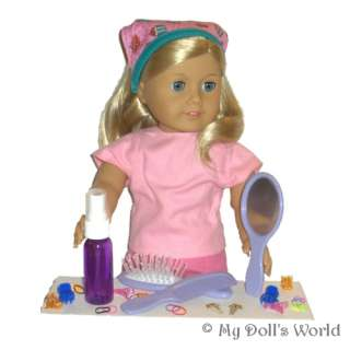 PERSONALIZED HAIR CARE SET FITS AMERICAN GIRL DOLL SUPPLIES~KIT