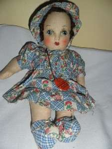 Vintage EARLY AUSTRALIAN JOY TOYS W/Tag Baby doll Estate Find RARE