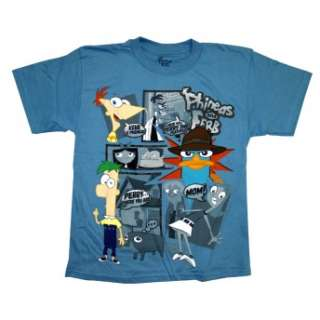 Phineas And Ferb Agent Perry Platypus Comic Cartoon Boys Youth T Shirt