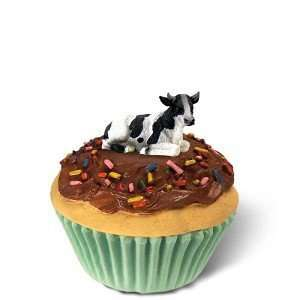 Holstein Bull Cupcake Trinket Box: Home & Kitchen
