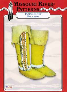 Item for sale is a sewing pattern , not completed moccasins
