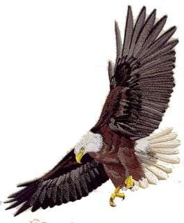 HUGE Flying Bald Eagle Bird Jacket Back Iron on Patch