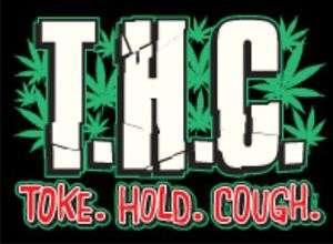 TOKE HOLD COUGH Adult Humor Pot Weed Ganja Shirt