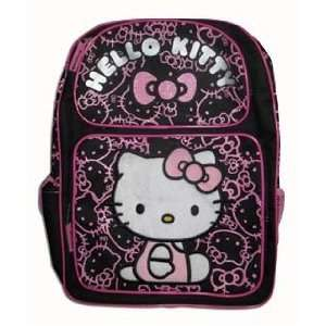Sanrio Hello Kitty Large Backpack   Black with Pink