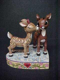 Jim Shore Rudolph Red Nosed Reindeer CLARICE KISSING RUDOLPH 4023444