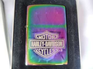 Zippo HARLEY DAVIDSON Flaming Barb Wire Cigarette Lighter NEW