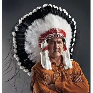 Native American Shadow Warrior Headdress or War Bonnet: