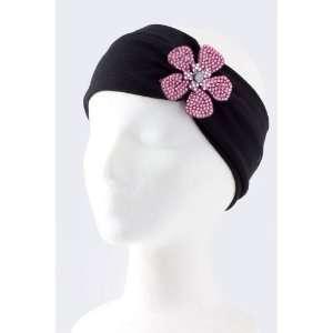 Fashion Hair Accessory ~Pink Acrylic Rhinestone Flower