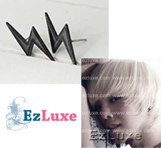 Korean BIG BANG BIGBANG Lightning Bolt Thunder Earrings