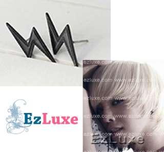 Korean BIG BANG BIGBANG Lightning Bolt Thunder Earrings