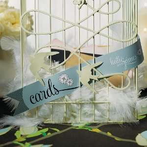 Personalized Streamer For Cards   Navy Blue