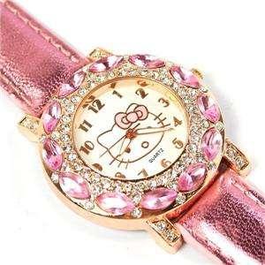 Hello kitty Luxury Women RhineStone Wrist Watch Quartz