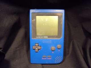 Blue Nintendo Game Boy Pocket and Case BundleA222 045496710477