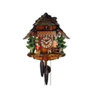 Cuckoo Clock Black Forest House with Goatherd