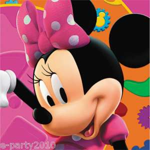 DISNEY MINNIE MOUSE Birthday Party Supplies bev NAPKINS 726528250399