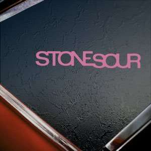 Stone Sour Pink Decal Metal Rock Band Truck Window Pink