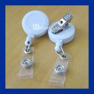 10 pcs Reels Retractable Badge Clip YOYO Clip White