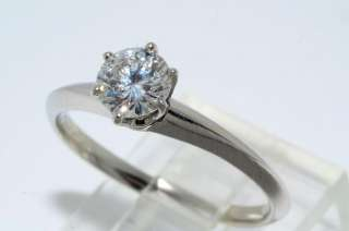 TIFFANY & CO. GIA CERTIFIED DIAMOND ENGAGEMENT RING PLAT SIZE 6