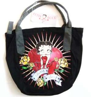 Betty Boop Handbag Yellow Rose & Banner Tattoo Art