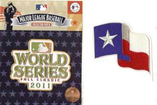 2011 World Series & Texas Rangers 2 Patch Combo   100% Authentic