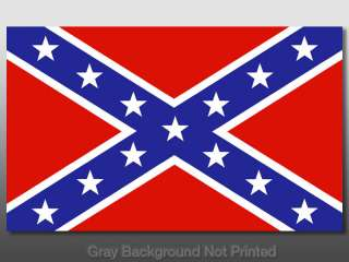 Rebel Flag Sticker  decal confederate south southern tx