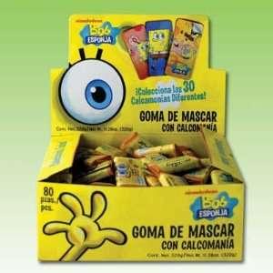 Sponge Bob/ Bob Esponja 80 Stickers Whit Chewy Gum Mexican Candy(bondy