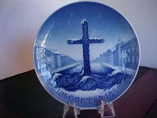 1946 BING & GRONDAHL CHRISTMAS PLATE CROSS
