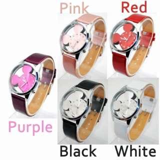 BOLUN Girl Teenagers Quartz Wrist Watch Hour Mickey Mouse Shaped