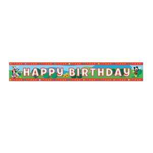Mickey Mouse Clubhouse Happy Birthday Foil Banner 4.5m