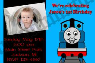 Thomas The Train Birthday Party Invitation Digital File