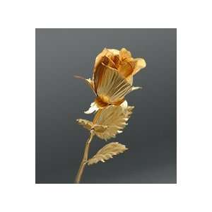24k Dipped Gold Rose Foil Flowers   Rose semiopen Patio