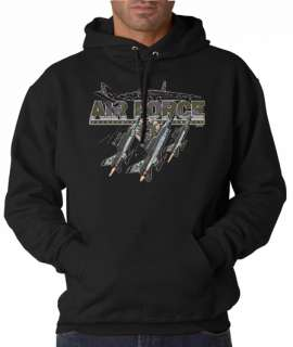 Air Force USA Military Airforce 50/50 Pullover Hoodie
