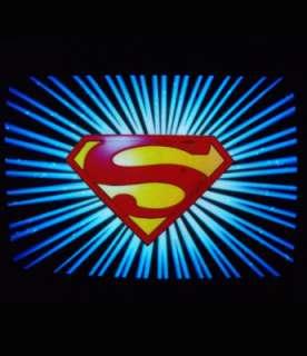 Sound activated SUPERMAN LED EL t shirt light up Black