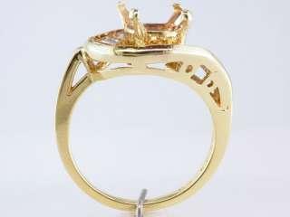 Genuine Diamond .75ct 18K Yellow Gold Engagement Wedding Ring Semi