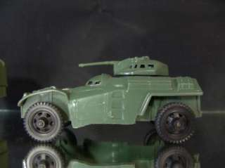 Vintage Green Plastic Military / Army Vehicles Tank Truck etc