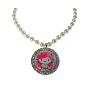 Tarina Tarantino Hello Kitty Pink Head Bridal Pendant Necklace   Pink