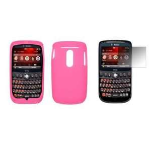 Premium Pink Silicone Gel Skin Soft Cover Case + LCD Screen Protector