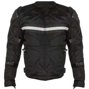 Xelement CF 751 Mens Black Motorcycle Breathable Level 3 Armored Tri