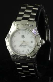 TAG HEUER AQUARACER SS DIAMOND/MOTHER OF PEARL DIAL LADIES WATCH W