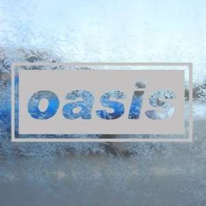 Oasis Gray Decal English Rock Band Truck Window Gray
